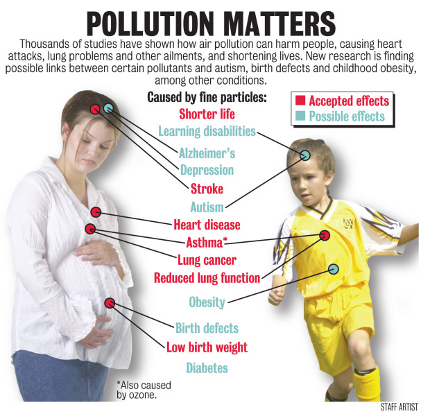 Pollution matters infographic